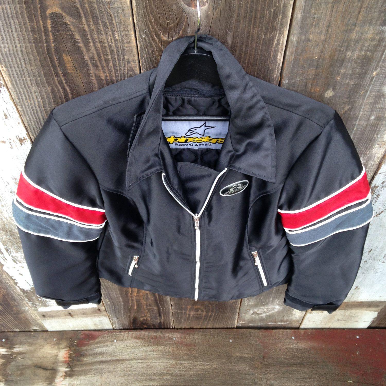 Alpine Stars Motorcycle Jacket, Vintage Motorcycle Jacket, Padded Motorcycle Jacket, Striped Moto Jacket, Heavy Motorcycle Jacket