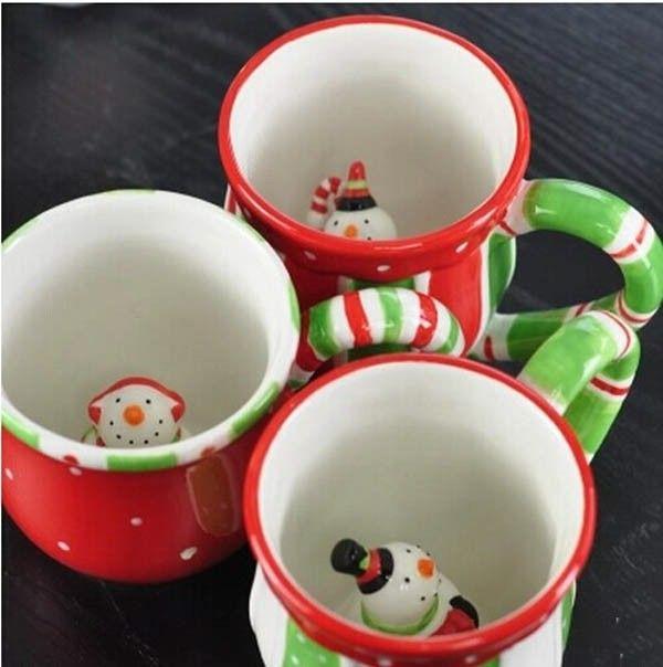 Cheap Envío gratis creativo lindo muñeco de nieve de cerámica taza pintada a mano de cerámica de navidad taza taza preciosa taza de la navidad, Compro Calidad Tazas/Mugs/Tarros directamente de los surtidores de China:       Creativo lindo muñeco de nieve taza de cerámica              Capacidad de carga:     400 ml   Tamaño: 10.5*9