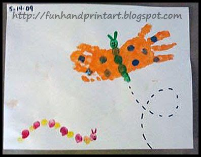 This makes a great spring craft to make the handprint for Butterfly hands craft