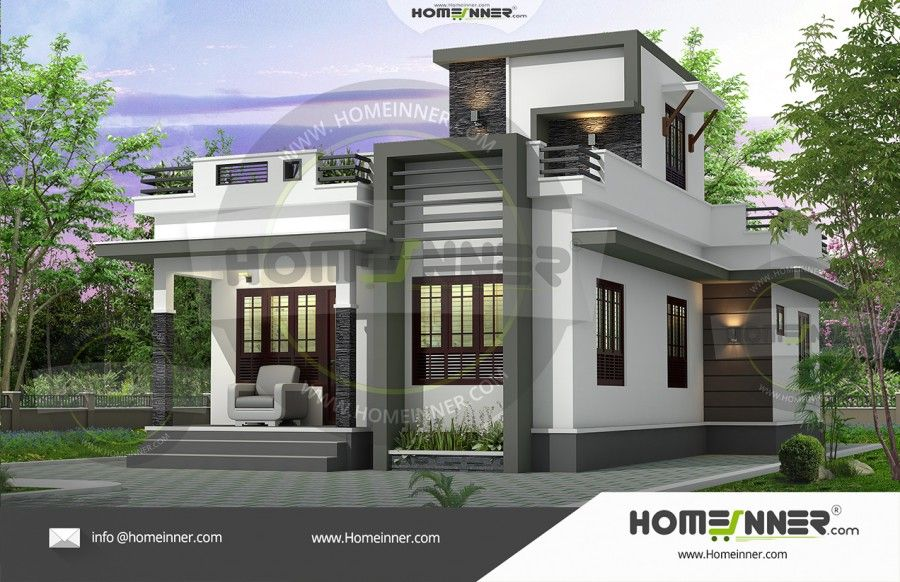 1000 Sq Ft Small Contemporary Floor Plan Model House Plan