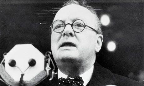 Winston Churchill Addressing Crowds in 1939