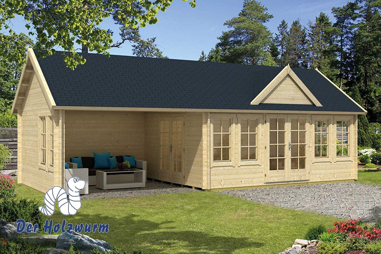 70 mm Gartenhaus Big Ben ca. 930x400 cm (Grau imprägniert
