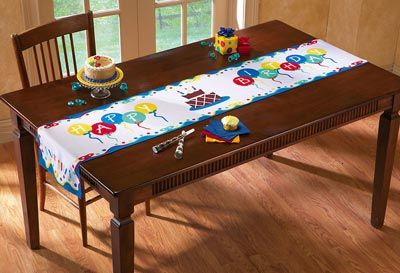 Genial Collections Etc. Find Unique Online Gifts At CollectionsEtc.com. Happy  Birthday Party Decorative Table Runner