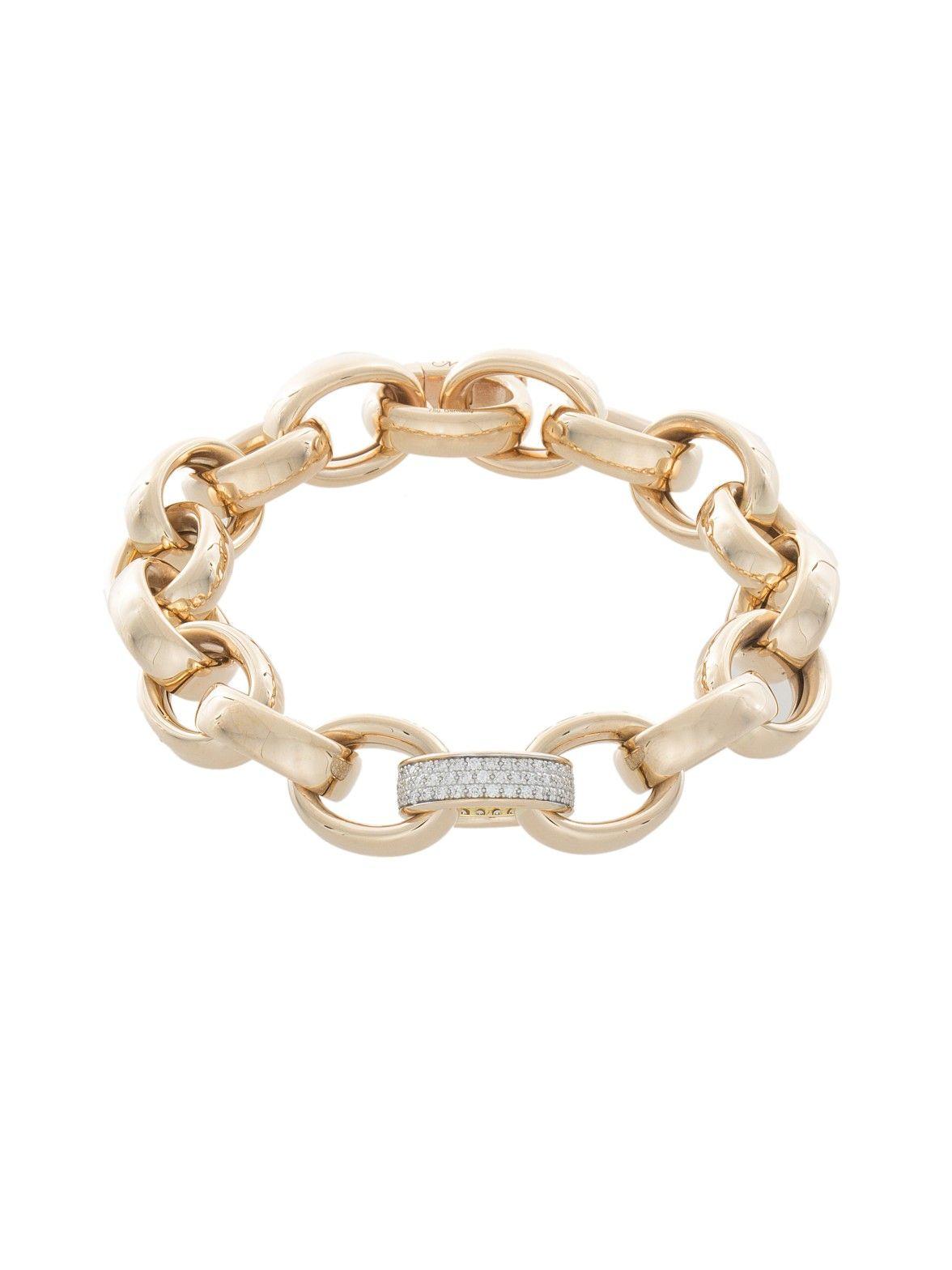 Monica Rich Kosann 18k White Gold Marilyn Link Bracelet FcUrnP6v18