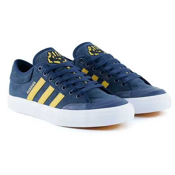 Adidas Skateboarding Matchcourt Tyshawn x Hardies Navy Customized White  Skate Shoes