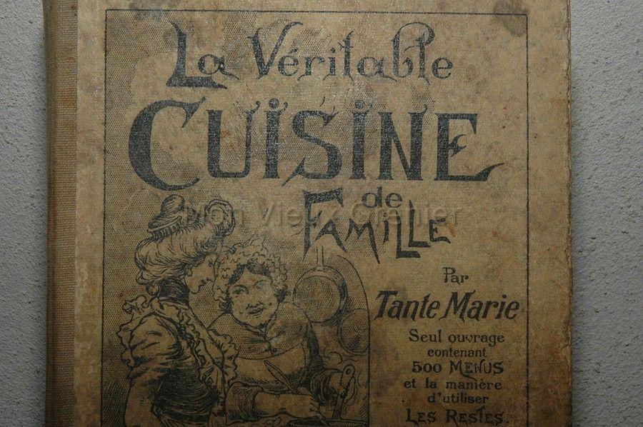 Livre de cuisine ancien ustensiles de cuisine - Livre de cuisine vierge ...