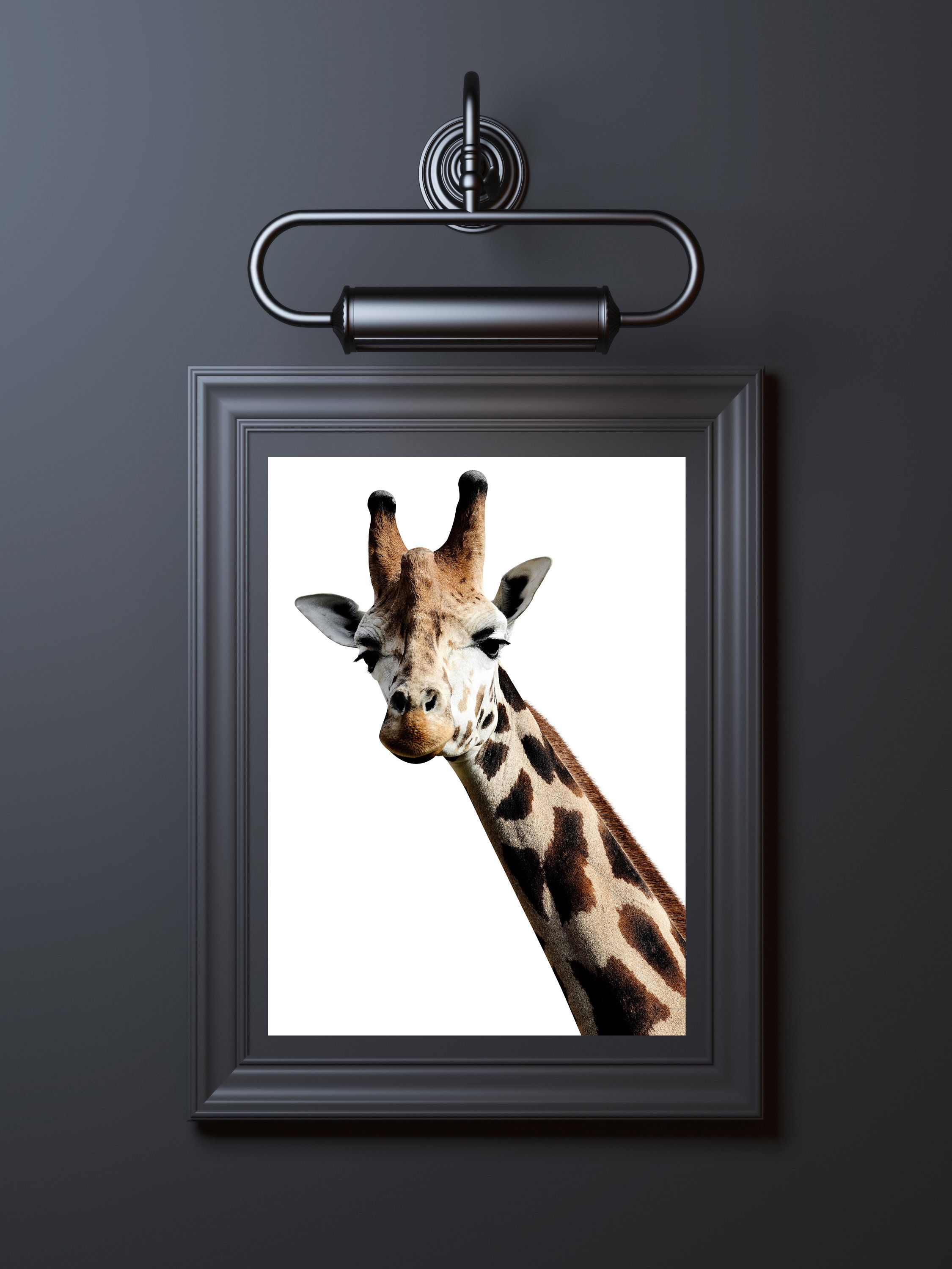 Giraffe print digital download printable wall art poster paper