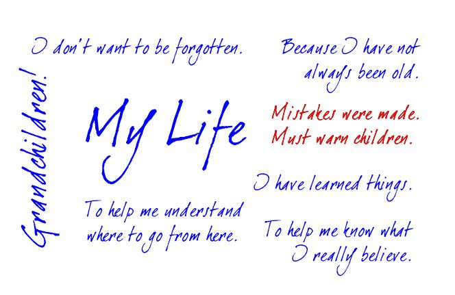 how do you write an autobiography Wwwlifetimememoriesandstoriescom ©lifetime memories and stories 2009 1 how to write an autobiography why do you want to write the story of your life.