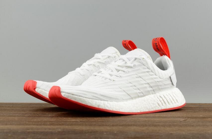 Adidas Originals NMD R2 PK White Red BA7253 Men Running