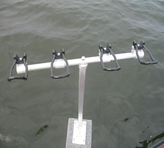 These are the rod holders i use when spider rigging made for Crappie fishing pole