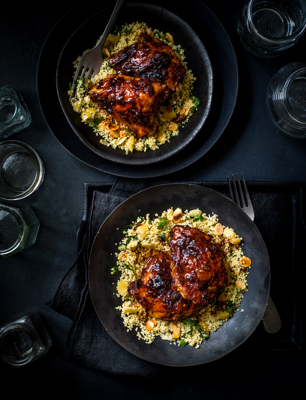 Photo of Sticky harissa and marmalade-baked chicken recipe