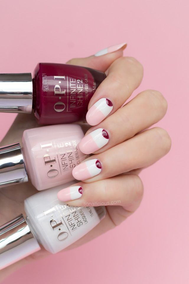 Minimalist Pink and White Nails, Inspired by C/Meo 2018. Plus ...