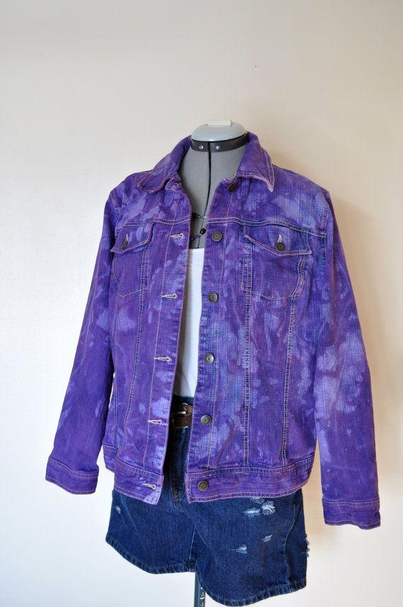 Violet Dyed Repurposed Denim Jacket