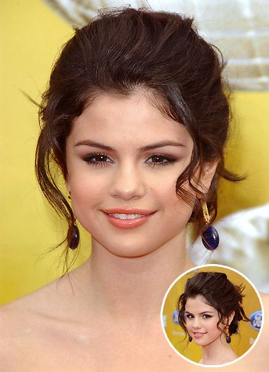 Selena Gomez Updo Shopping On An Unlimited Budget
