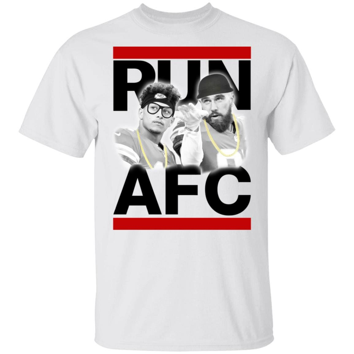 Patrick Mahomes Travis Kelce Run AFC shirt TShirt White S