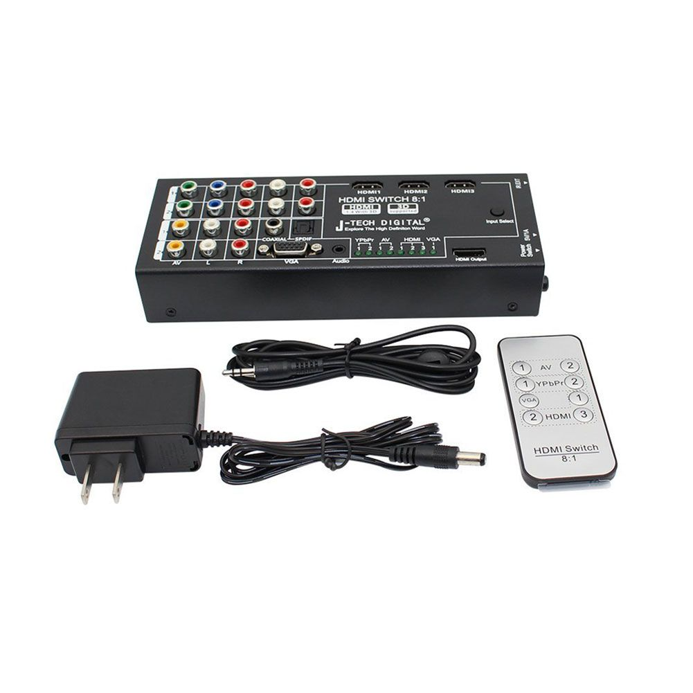 New Digital Multi Functional Hdmi Audio Extractor With 8 Inputs To 1 Hdmi Output With Optical Coaxial 5 1 Channel Gdeals Audio Hdmi Audio Mixer