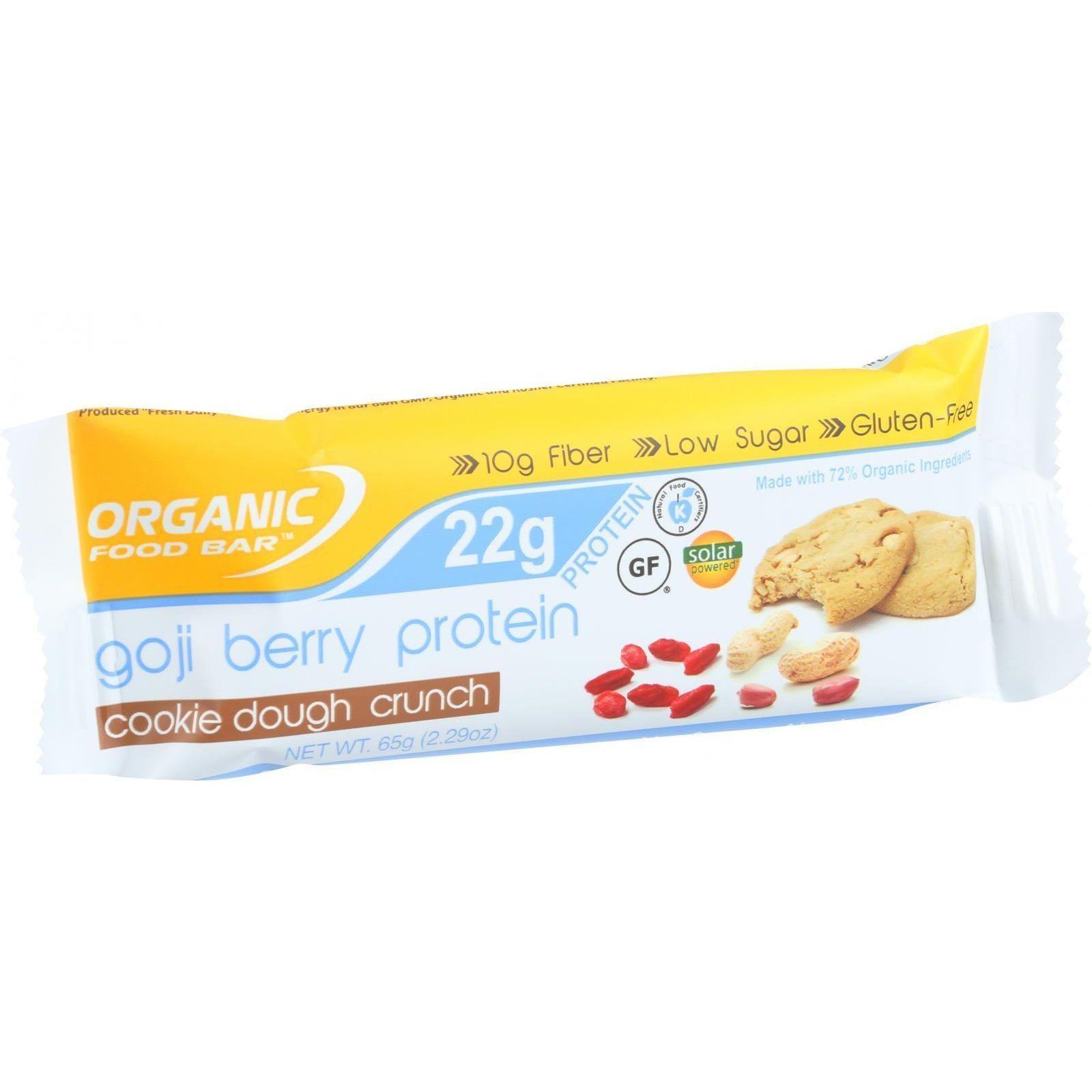 Organic Food Bar Protein Bar Goji Berry Protein Cookie Dough