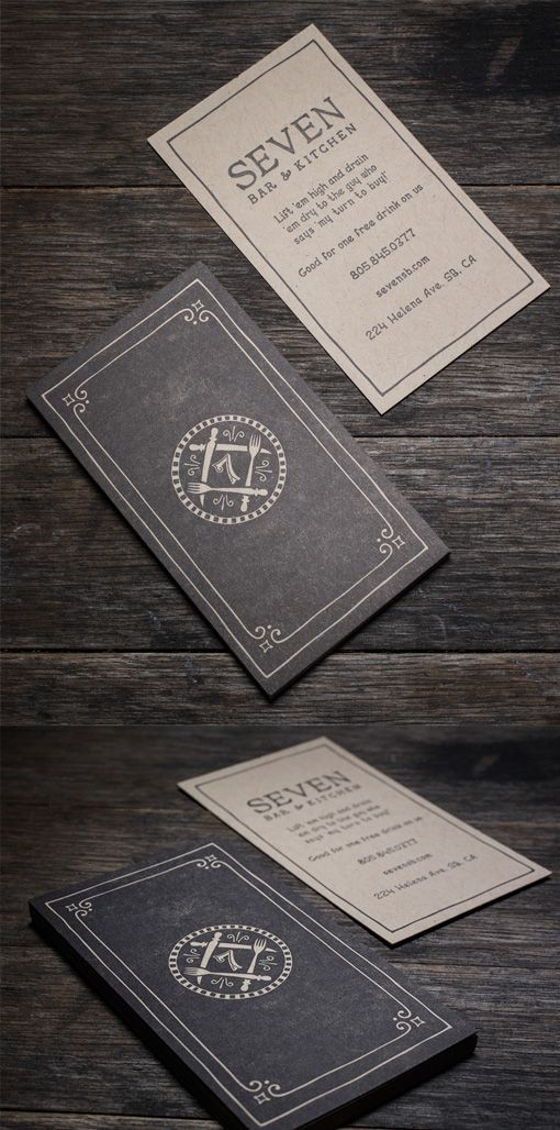 Sophisticated Vintage Style Letterpress Business Card For A ...