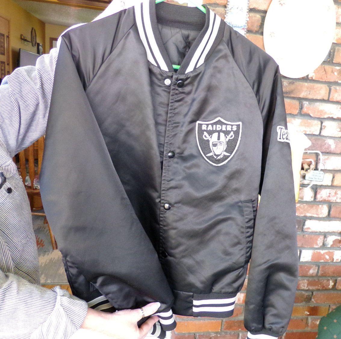 2b01c952 Vintage 1980 Los Angeles Raiders satin jacket, Chalk Line LA Raiders ...
