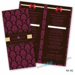 wedding cards shop | otai wedding wedding cards & gifts! (Wholesale wedding cards) »Classical Wedding Card KK192