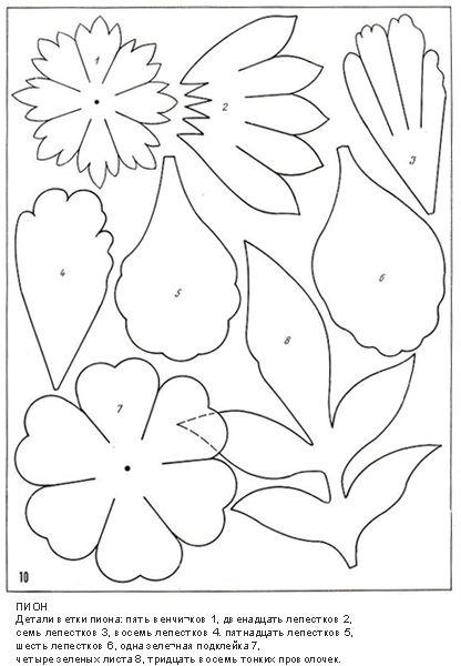 описание изготовления цветов из ткани12.   Tocados flores ...