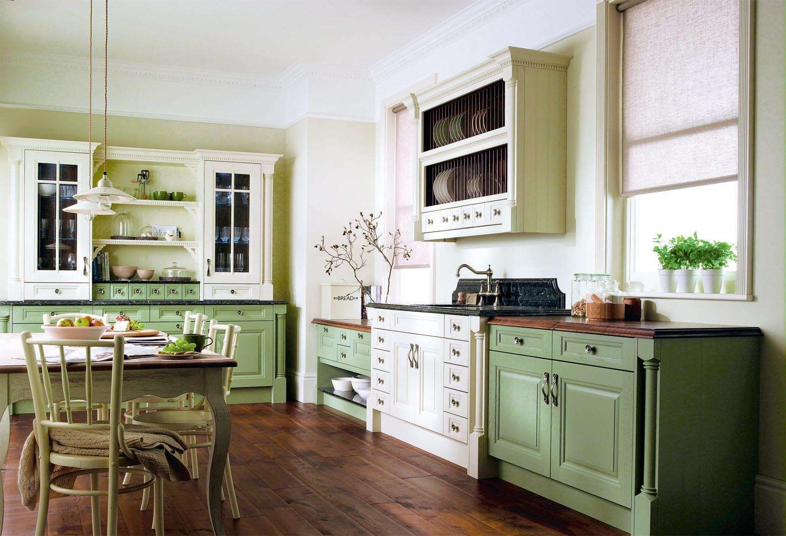 Georgian and victorian style kitchens period living for Period kitchen design