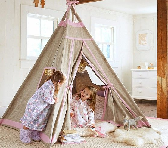 Pottery Barn Kidsu0027 playroom furniture is built to last and expertly crafted. Find play kitchens and kitchen sets and create a space perfect for kids. & Pink Teepee | Pottery Barn Kids | Tents teepees u0026 more ...