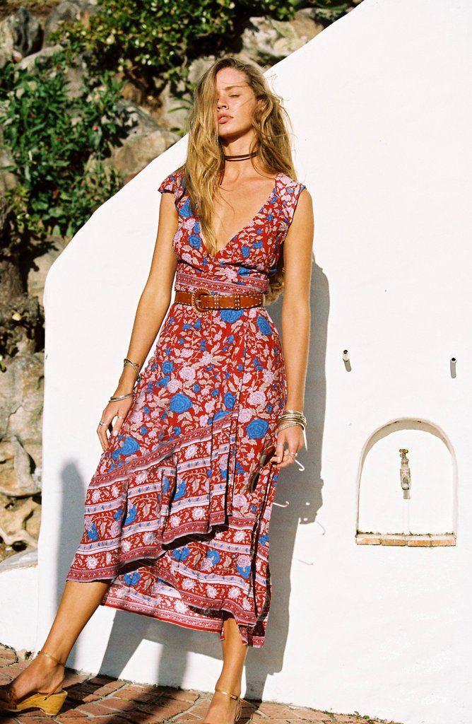 f1c2e838f8 Spanish Rose Wrap Dress in Scarlet  Pre Order  - Arnhem Clothing ...