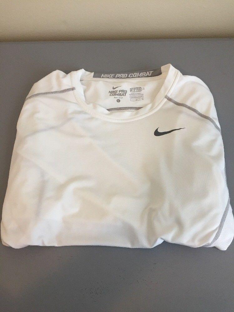 6c09e87d Nike Pro Combat (Dri-Fit) Fitted T Shirt Size Large | eBay | JM ...