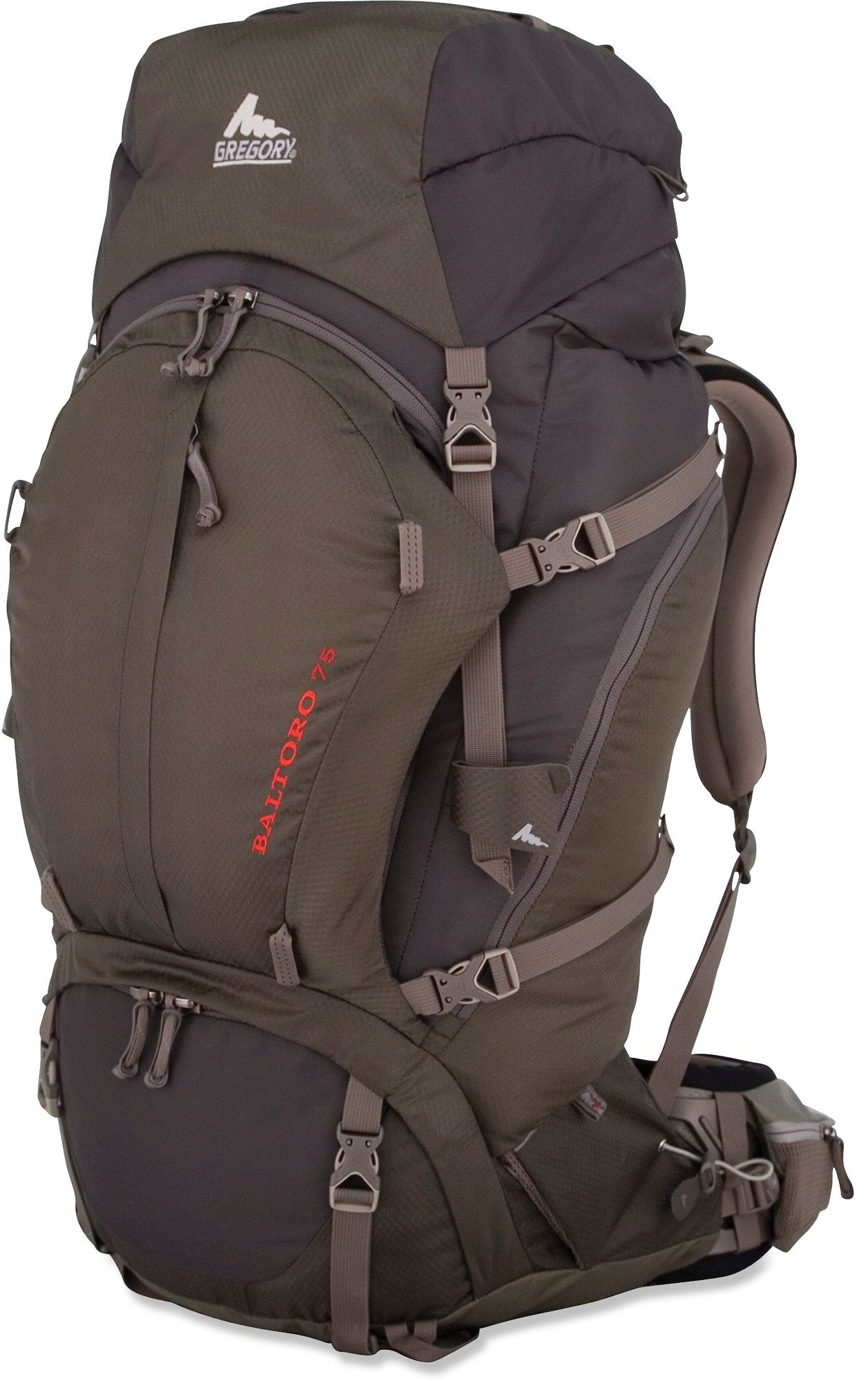 5f9654fd04 Gregory Baltoro 75 Pack - in Iron Gray  319 with detachable top lid pocket  for short hikes