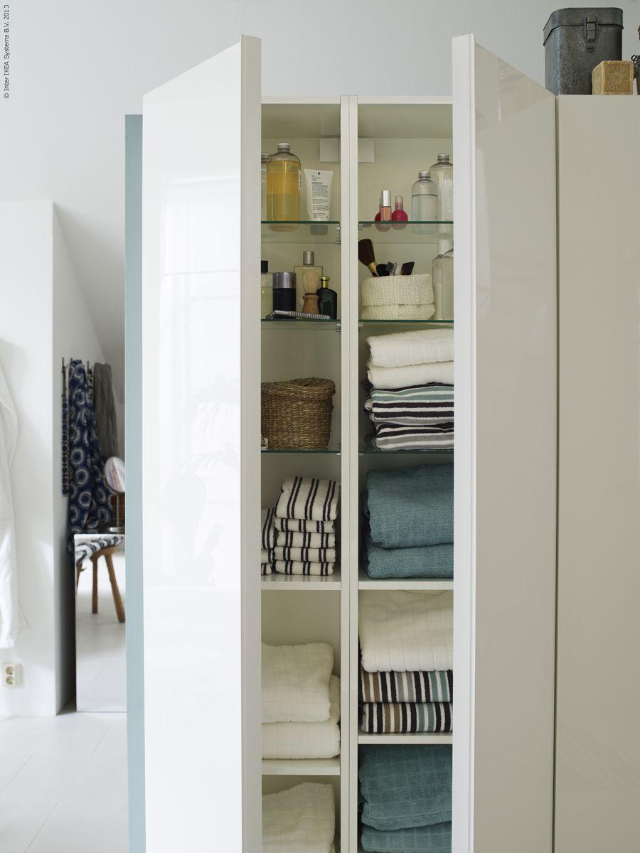 GODMORGON högskåp i högglans vit. | Badrum | Pinterest | Toilet ...