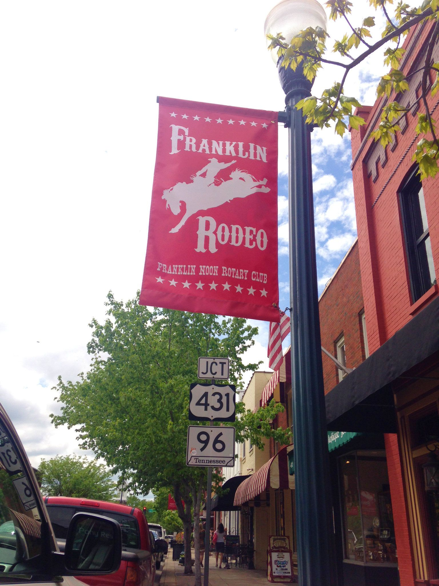Franklin Rodeo Banners In Downtown Franklin Tn