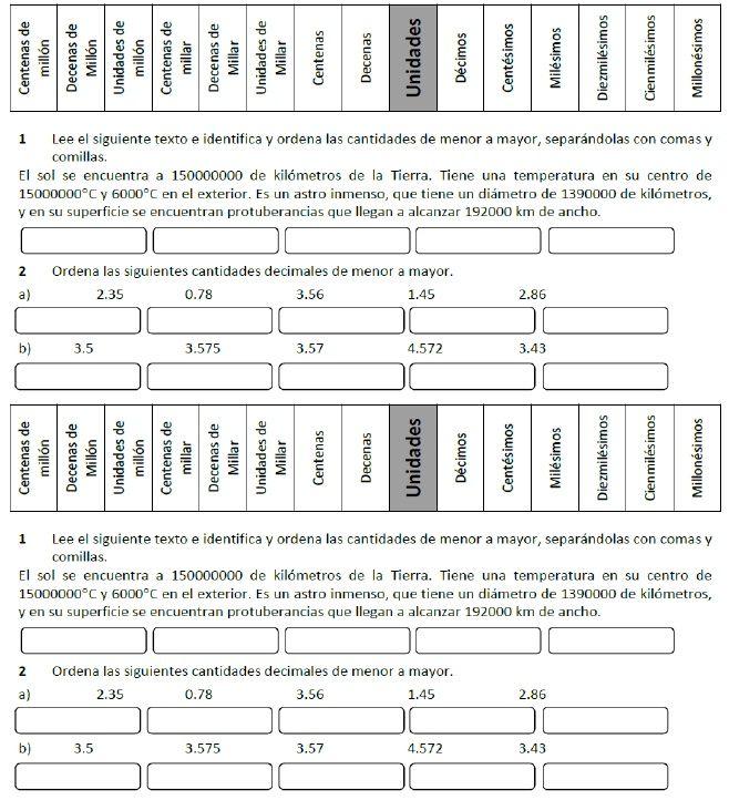 Ejercicios de Matemáticas Sexto Grado   ejereer   Pinterest ...