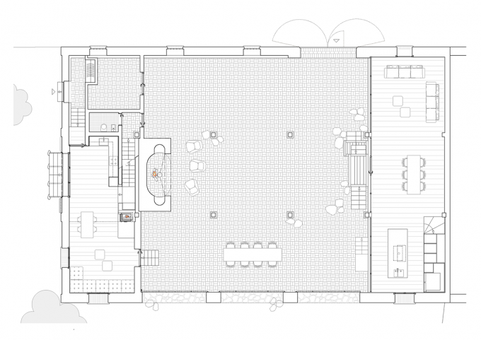 Ground floor plan. Transformation of a barn into a summer house by ...