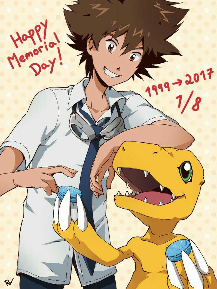 Taichi Y Agumon Digimon Digimon Adventure Tri Digimon Tamers