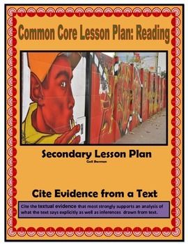 This Common Core based lesson plan based on citing text evidence includes: lesson instructions, admit slip, exit slip, anchor chart, vocabulary activity, non-fiction article, questions, and answer key.