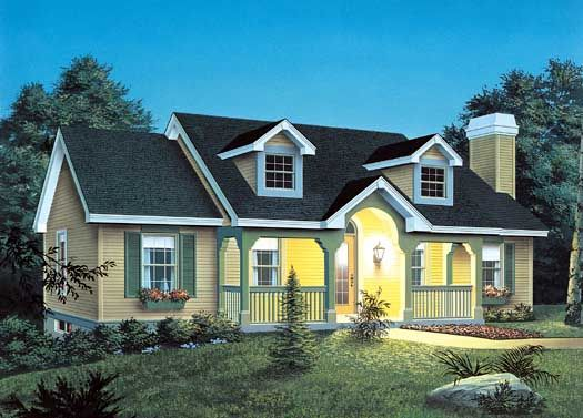Cape Cod Style House Plans - 1140 Square Foot Home , 1 Story, 3 ...