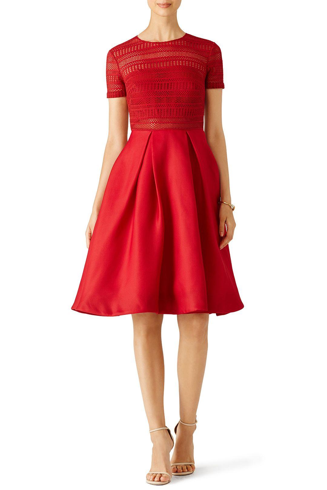 Red Contrast Top Ballerina Dress | Celebrity Style | Pinterest ...