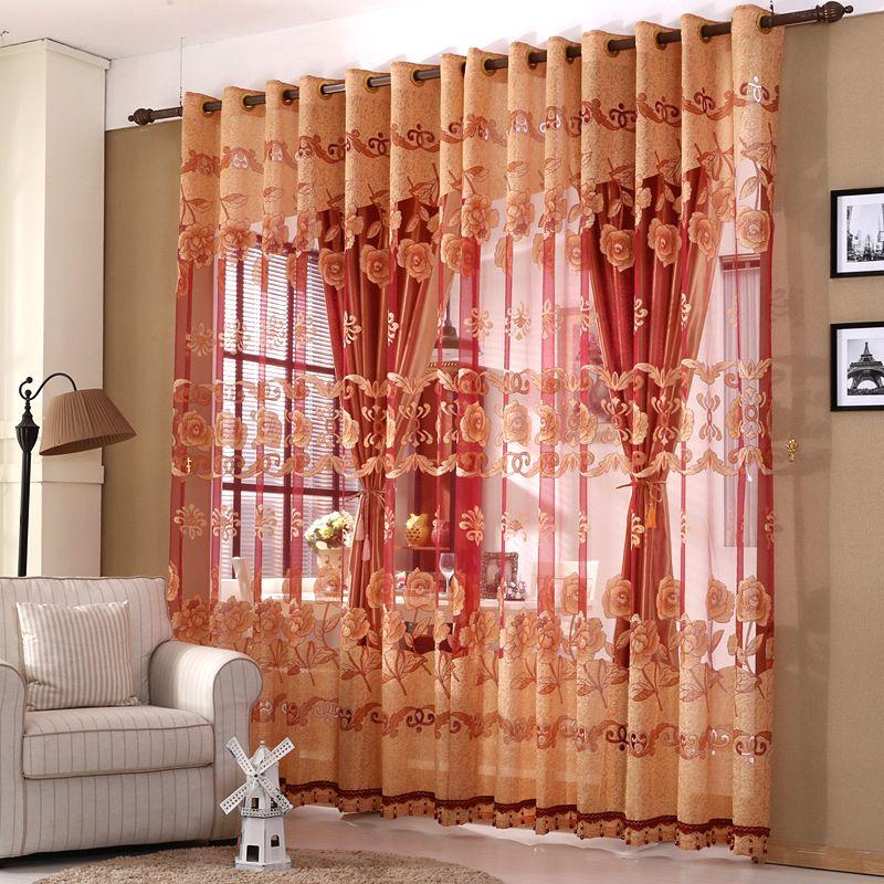 Cortinas de las ventanas de lujo situado a Sala de estar europeos - cortinas para ventanas