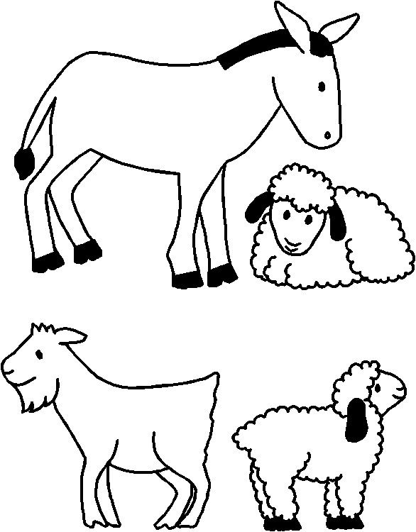 Nativity Animals For Paper Doll Friends Nativity Coloring Pages