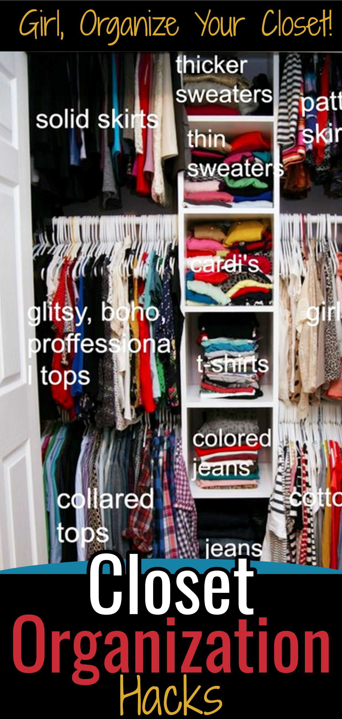 Easy DIY Closet Organizing System - Closet Organization on ...