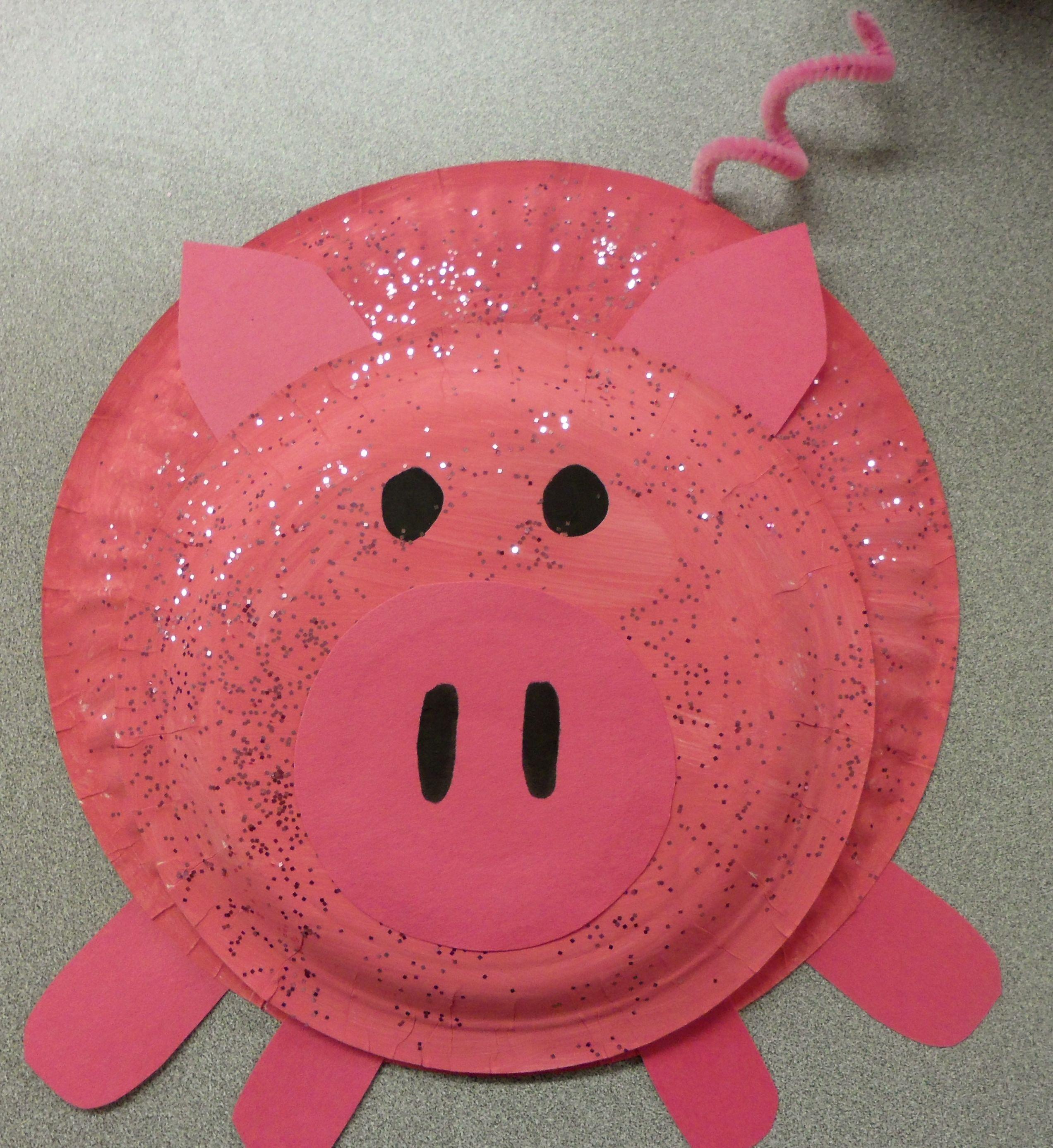 Paper plate pig & Paper plate pig | platos desechables | Pinterest | Farming Craft ...