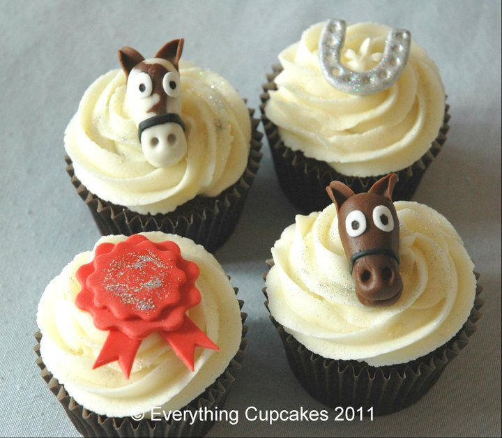 horse cupcakes Cupcakes made by others Pinterest Horse Cake