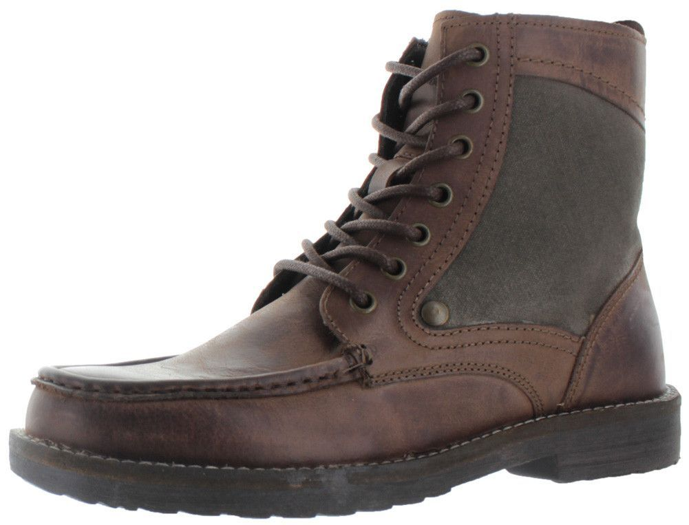 Steve Madden Diabblo Men's Moc Toe Leather Boots