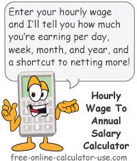 Hourly Pay To Annual Salary Calculator This Free Online