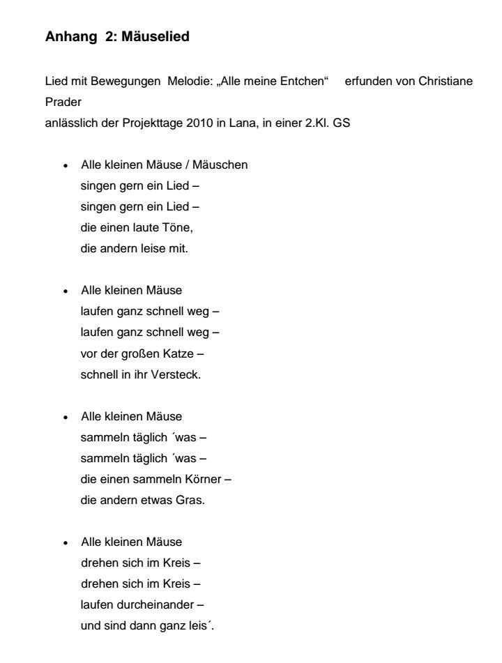 Photo of Mäuselied nach dem Bilderbuch Frederik