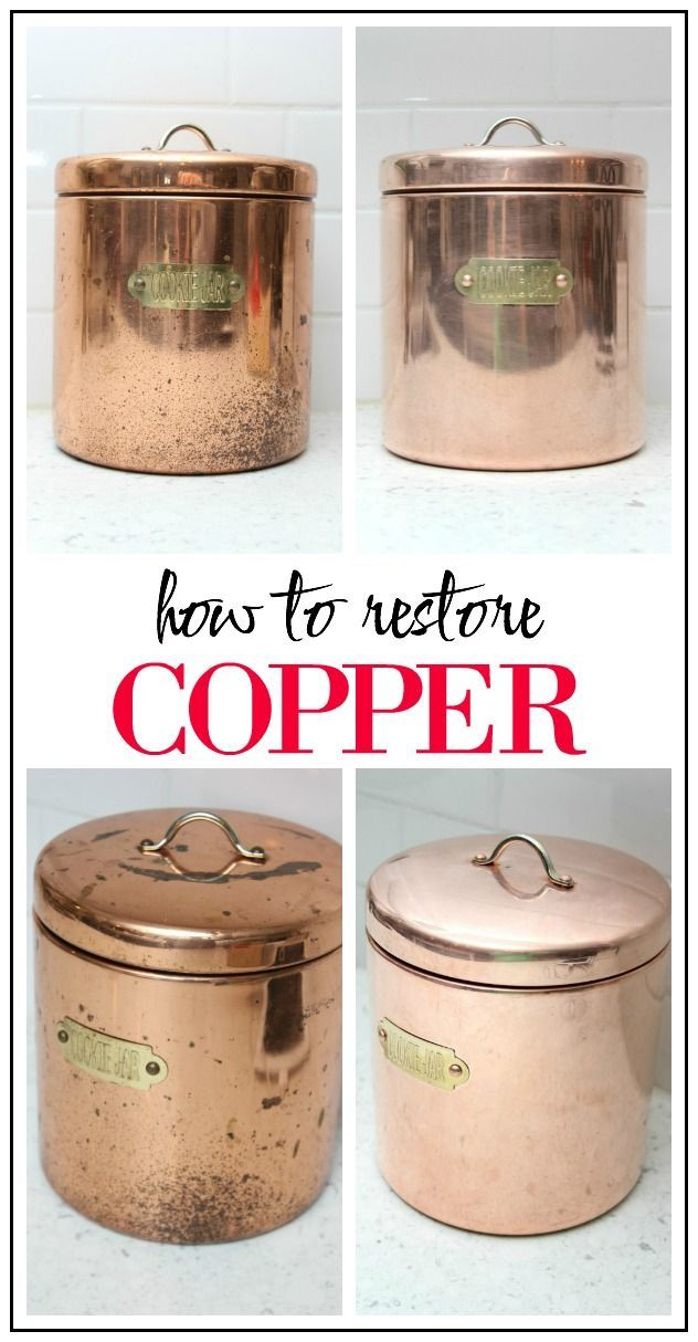 How to Clean Copper | Copper pots, Water and Kitchens