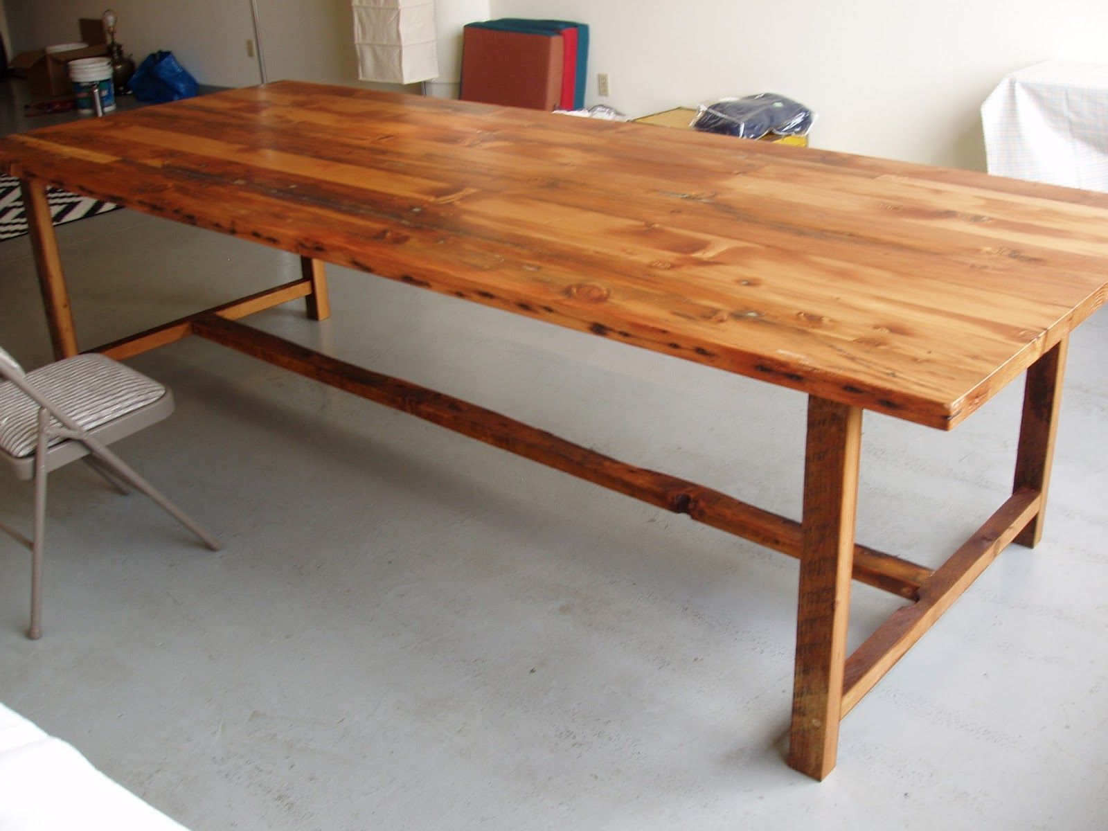 10 Foot Long By 48 Inch Wide Wood Dining Table