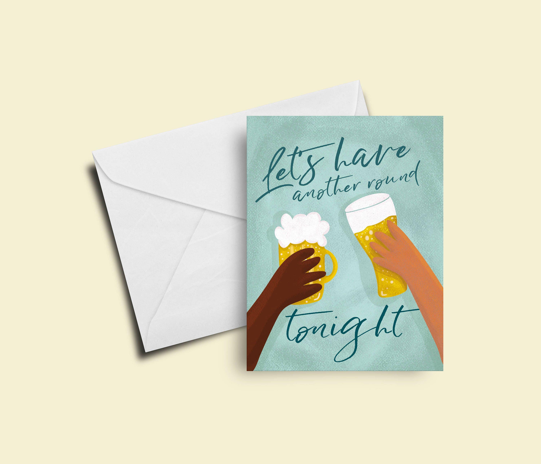 Hamilton Birthday Card Hamilton Musical Greeting Card Lets Have
