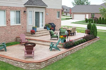Backyard Concrete Patio Ideas concrete finishes for patios and walkways broom finish concrete Stamped Concrete Patios Macomb Township Mi Biondo Cement